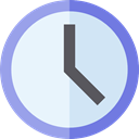Clock, time, watch, miscellaneous, tool, square, Tools And Utensils AliceBlue icon