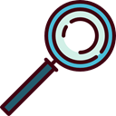 magnifying glass, zoom, detective, Loupe, Tools And Utensils Black icon