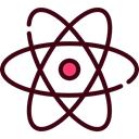 science, Atomic, Atom, education, nuclear, Electron, physics Black icon