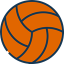 team, equipment, sports, volleyball, Sport Team Chocolate icon