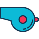 music, tool, Whistle, musical instrument, referee DarkTurquoise icon