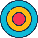 Aim, Target, sports, shooting, sniper, weapons, Dart Board DarkTurquoise icon