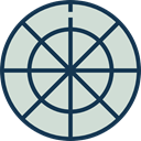 Aim, Target, sports, shooting, sniper, weapons, Dart Board LightGray icon