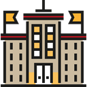 buildings, college, High School, Architecture And City, school, education Tan icon