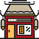 food, Business, store, commerce, Shop, chinese, Architecture And City Black icon