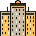 office, Building, city, town, buildings, urban, Architectonic, Office Block, Architecture And City Tan icon