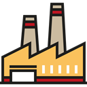 Factory, Industrial, pollution, Contamination, industry, landscape, buildings, Architecture And City Black icon