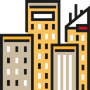 city, town, buildings, Architecture, urban, Skyscrapers, Cityscape, Architecture And City Tan icon