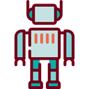 robot, Toy, technology, electronics, childhood, Science Fiction, Futurist Maroon icon