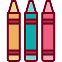 education, Crayon, Crayons, write, Pen, gaming, Draw Maroon icon