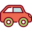 Car, transportation, transport, vehicle, Toy, Automobile Maroon icon