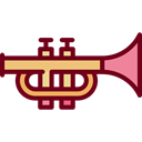 music, jazz, Trumpet, musical instrument, Wind Instrument, Orchestra, Music And Multimedia Black icon