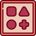 Baby Toy, geometry, shapes, baby, children, Game, triangle, gaming, shape Wheat icon