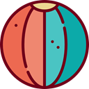 gaming, Ball, Beach ball, sports, Beach, summer, Fun Maroon icon