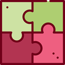 gaming, Fit, Puzzle, Jigsaw, Creativity, Puzzle Pieces, Puzzle Game Brown icon