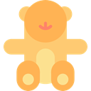 Animal, gaming, Animals, teddy bear, childhood, puppet, Fluffy SandyBrown icon