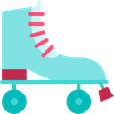 sports, Sports And Competition, skate, Skating, skater, roller skate SkyBlue icon