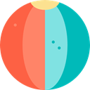 gaming, Ball, Beach ball, sports, Beach, summer, Fun Tomato icon