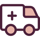 medical, transportation, transport, vehicle, Ambulance, emergency, Automobile, Healthcare And Medical DarkSlateGray icon