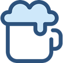 Alcohol, Jar, food, beer, pub, Alcoholic Drinks, Food And Restaurant DarkSlateBlue icon