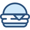 food, Fast food, junk food, sandwich, Burger, hamburger, Food And Restaurant DarkSlateBlue icon