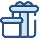 birthday, gift, present, surprise, Christmas Presents, Birthday And Party DarkSlateBlue icon