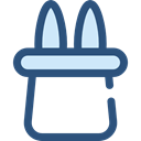 magician, entertainment, fair, Circus, rabbit, Magical DarkSlateBlue icon