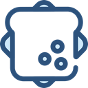 food, Lunch, meal, snack, Bread, sandwich, Food And Restaurant DarkSlateBlue icon