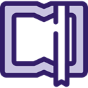 Book, Library, education, reader, reading, leisure, open book, School Material Icon