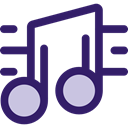 music, interface, music player, song, music note, musical note, Quaver, Music And Multimedia MidnightBlue icon