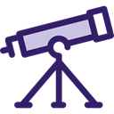 Tools And Utensils, Observation, space, telescope, science, education Icon