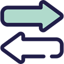 bidirectional, Left, interface, Direction, transfer, Arrows, right MidnightBlue icon