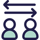 Arrows, right, Left, interface, Direction, transfer, bidirectional MidnightBlue icon