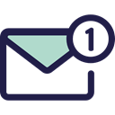 Email, envelope, Message, mail, Note, interface, Communications MidnightBlue icon