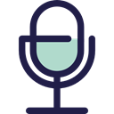 vintage, Communications, Voice Recording, sound, Microphone, radio, technology MidnightBlue icon