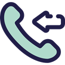 telephone, technology, phone receiver, Communication, Communications, phone call, Incoming Call MidnightBlue icon