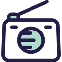 music, radio, technology, electronic, vintage, Communications MidnightBlue icon