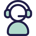 technology, Telemarketer, Microphone, Avatar, customer service, support, people, user, Headphones, Call MidnightBlue icon