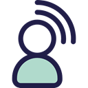 transmitter, user, Avatar, Communications Black icon