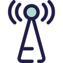 Wireless Connectivity, Wireless Internet, antenna, Communications Black icon