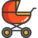 transport, Toy, doll, childhood, Motherhood, Baby Stroller, Kid And Baby DarkSlateGray icon