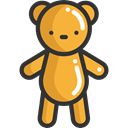 Animal, bear, Animals, children, Kid And Baby, teddy bear, childhood, puppet, Fluffy Goldenrod icon