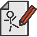 Edit, pencil, button, Drawing, Draw, interface, Art And Design Icon