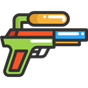 gaming, summer, childhood, vacations, Water Gun DarkSlateGray icon