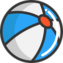 gaming, Ball, Beach ball, summer, Fun, leisure DarkSlateGray icon