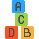 toys, Abc, gaming, baby, entertainment, Educative, Kid And Baby, education, Alphabet, cube, Cubes Black icon