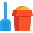 Beach, childhood, shovel, leisure, Tools And Utensils, Summertime, Sand Bucket, Kid And Baby Tomato icon