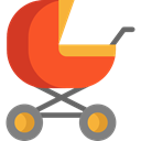 transport, Toy, doll, childhood, Motherhood, Baby Stroller, Kid And Baby Black icon