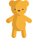 Animal, bear, Animals, children, teddy bear, childhood, puppet, Fluffy, Kid And Baby Goldenrod icon