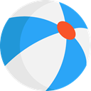 gaming, Ball, Beach ball, summer, Fun, leisure DodgerBlue icon